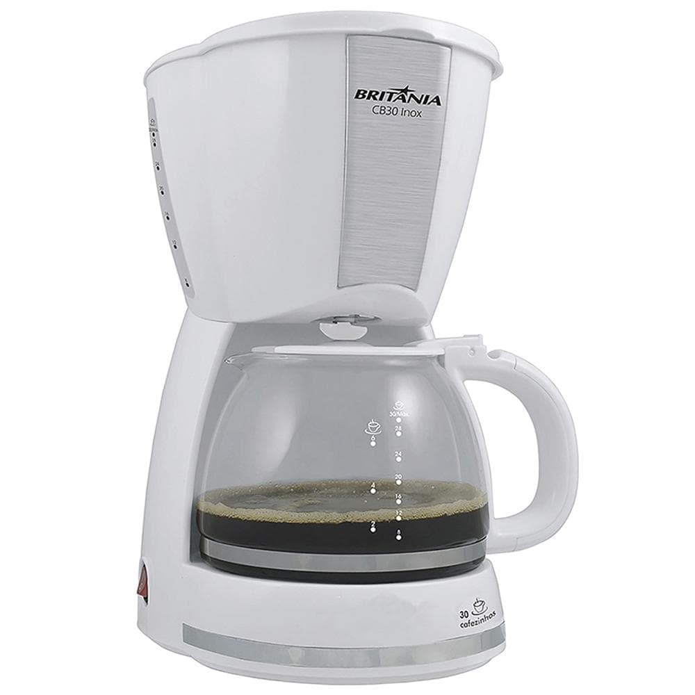 Cafeteira Eletrica 30 Xicaras Cb30 Branco-inox Britania