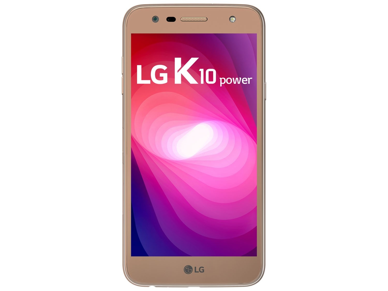 Smartphone LG K10 Power DB Dourado