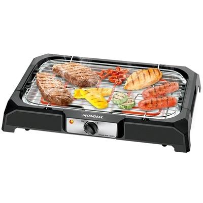 Churrasqueira Eletrica Grand Steak e Grill 2000w Preta Mondial